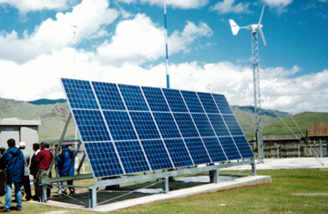 Rural Power Supply by Hybrid Wind & Solar, Mongolia