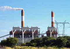 Coal thermal power plant and turbine, Botswana
