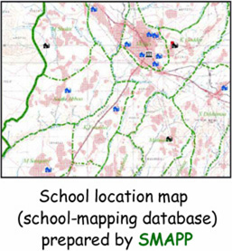 School location map (school-mapping database) prepared by SMAPP